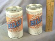 2 Vintage Billy Beer Cans Very Good Never Filled Pres Carterand039s Brother Empty