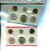 1964 P And D United States 10 Coin Mint Set No Envelope 7090p