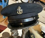 Vintage Us Navy Chief Petty Officer Blue Combo Hat Cap Wwii Era Ns Meyer Looknew