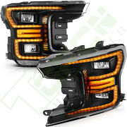 Headlamps For Ford F150 2018-2020 Front Led Headlights W/ Reflective Bowl Pair