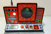 Antique Japanese Tin Toys Space Station Made In Japan 宇宙基地 An Old Tin Satellite