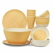 Bamboo Dinnerware Sets For 4 – Nice Quality And Durable W/ Beautiful Bamboo Dishes