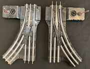 Lionel 042 O Gauge 1 1/4andrdquo Manual Left And Right Switches Used Good Condition
