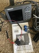 Lowrance X510c Fish Finder Locator With Power Cord Excellent Freshwater Unit