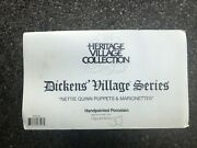 Department 56 Dickens Village- Nettie Quinn Puppets And Marionettes 58344 Nib