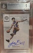 🔥lonzo Ball 2017-18 Encased Rookie Notable Signatures /99 Bgs 9/10 Auto Rc