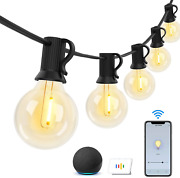 Bomcosy Outdoor String Lights – Patio Lights 120ft Dimmable Smart Globe String L