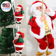 Christmas Xmas Electric Climbing Ladder Led Santa Claus Party Decorations Gift
