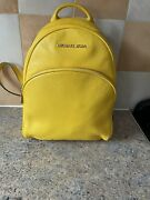Yellow Leather Medium Backpack12 X 10 X 4.5 Incheslovely