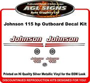 2002 2003 2004 2005 2006 Johnson 115 Reproduction Outboard Decal Kit