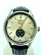 Secondhand Tagheuer Wv5111/carrera/automatic Watch Carrera Calibre Blue Leather