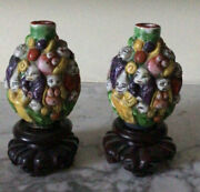 A Pair Of Chinese Antique Andlsquo Luohanandrsquo Snuff Bottles