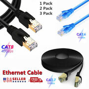 Cat6 Cat7 Cat8 Ethernet Cable High Speed Lan Patch Shielded Cord 350ft Lot Us