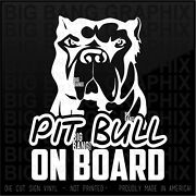 Pit Bull Security Vinyl Sticker Decal Funny Car Vehicle Truck Window Lettering