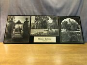 Vintage Union College Plaque Sign Wall Hanging Picture Display Schenectady