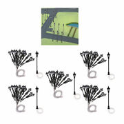 100x 1150 N Scale Painted Single Head Yard Lights For Park Garden Scenery