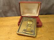 Reed And Barton General Electric Bronze Plaque Badge Award Advertising Rare Promo