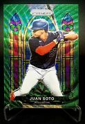 2021 Prizm Juan Soto Stained Glass Green Wave Prizm Refractor Parallel Sg-3 Sp