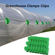 24pcs Pipe Clamps For 11mm/0.43inch Stakes Greenhouse Film Garden Hoop Clip Us