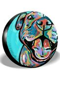 Spare Tire Cover Fit For Jeep Wrangler 17 Size Xl Tire Cover Cute Pit Bull Dog
