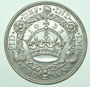 Very Scarce 1933 George V Wreath Crown, British Silver Coin [only 7132 Struck]