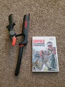 Rapala Pro Bass Fishing Wii Game Cib And Fishing Rod Controller Attachment