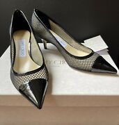 New 750.00 Jimmy Choo Amika 50 Women's Shoes Made In Italy Size Eu 36 Us 5.5