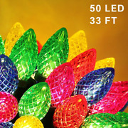Twinkle Star C9 Christmas String Lights, 50 Led 33ft Outdoor Fairy Lights With 2