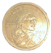 Rare 2000-d Sacagawea Dollar Us Mint Coin In Brilliant Uncirculated Condition