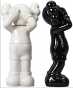 Kaws Ceramic Black And White Containers Set Holiday Uk Edition Of 1000 In Hand