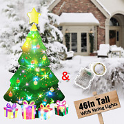Hosko Christmas Decorations Outdoor Christmas Tree Yard Signs With String Light
