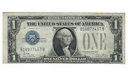 1928 A Series Silver Certificate 1 One Dollar Paper Money Blue Seal Circulated