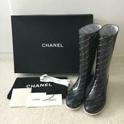 Rain Boots Boot Matelasse Coco Mark 37 From Japan Fedex No.4369