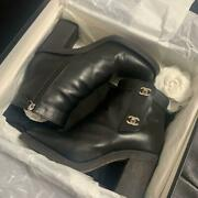Turnlock Boots Black From Japan Fedex No.4408
