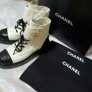 Pole White Cc Lace-up Ankle Boots From Japan Fedex No.4440