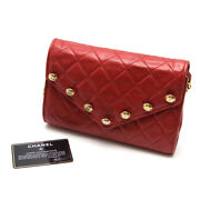 Chain Shoulder Leather Red Gold Free Shipping No.7462