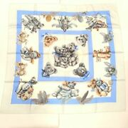 Hermes Carre 90 Silk Teddy Bear Fashion Accessories Scarf Women And039s No.4044