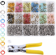 240 Sets Hollow Snap Fasteners Kit 12 Colors 9.5mm Metal Snaps Button...
