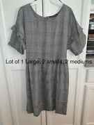 Lot Of 5 Nwt Black And White Checkered Dresses 2sm, 1l, 2med