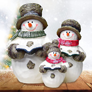 Vainechay Snowman Decorations Christmas Snowman Figurines For Home Indoor Table