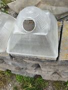 Lot 12 Vintage Holophane Industrial Large Light Fixture W/ribbed Glass