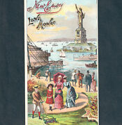 Statue Of Liberty 1800's New York City Habor Lawn Mower Greenfield Ma Trade Card