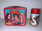 Vintage 1980 Metal The Dukes Of Hazzard Lunch Box With Thermos