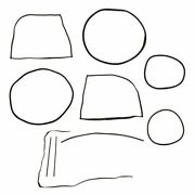 Complete 11 Piece Molding Groove Weatherstrip Kit For 72-77 Vw Beetle Coupe