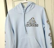Adidas Limited Edition Abstract Floral Flower Print Hoodie Size Medium Womenand039s