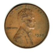 1935 P Lincoln Wheat Penny Circulated Coin Copper Fill Your Coin Book 0945