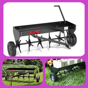 40 In Tow Behind Plug Aerator W/ Weight Tray And Universal Hitch Pneumatic Tires