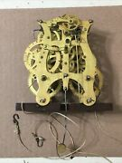 Early Seth Thomas Plymouth 30 Hour Weight Driven Clock Movement Unusual Shape