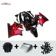 Motorcycle Red Black Fairing Kit For Honda Cbr600f2 1991 1992 1993 1994 Cowlings
