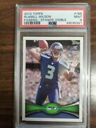 Russell Wilson 2012 Topps Passing Stands Visible 165 Rookie Rc Psa 9 Seahawks